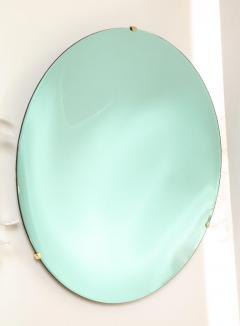 Large Sculptural Round Concave Green Verde Mirror Italy 2021 - 2004408