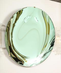 Large Sculptural Round Concave Green Verde Mirror Italy 2021 - 2004409