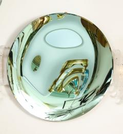 Large Sculptural Round Concave Green Verde Mirror Italy 2021 - 2004410