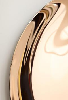 Large Sculptural Round Concave Rose Rosa Mirror Italy 2021 - 2004390