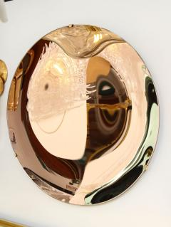 Large Sculptural Round Concave Rose Rosa Mirror Italy 2021 - 2004392