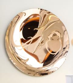 Large Sculptural Round Concave Rose Rosa Mirror Italy 2021 - 2004393