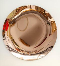 Large Sculptural Round Concave Rose Rosa Mirror Italy 2021 - 2004394