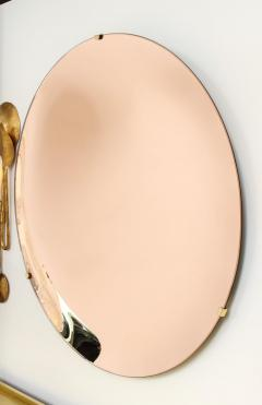 Large Sculptural Round Concave Rose Rosa Mirror Italy 2021 - 2004396