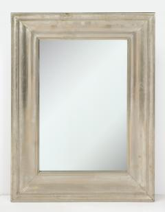 Large Silvered metal Framed Mirror  - 1652567