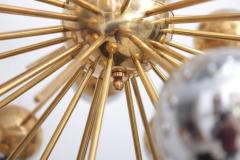 Large Sputnik chandelier in brass with glass mirror globes - 904099