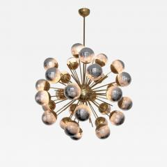 Large Sputnik chandelier in brass with glass mirror globes - 905606