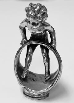 Large Sterling Silver Desk Seal Cherub Chester 1912 - 1718469