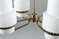 Large Swedish Chandeliers in Brass and Frosted Opaline Glass - 881138