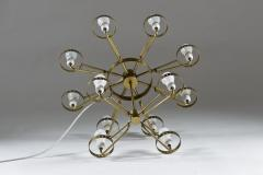 Large Swedish Chandeliers in Brass and Frosted Opaline Glass - 881140