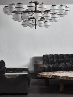Large Thirty Six Lights Chandelier with Glass Globes - 1924674