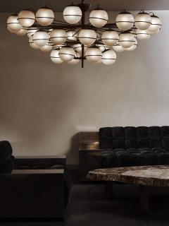 Large Thirty Six Lights Chandelier with Glass Globes - 1924675