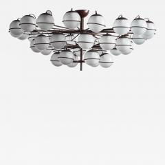 Large Thirty Six Lights Chandelier with Glass Globes - 1926844