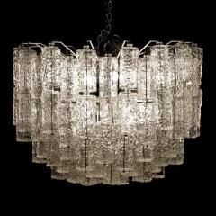 Large Tiered Chandelier Attributed to Venini Murano - 1409989
