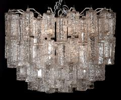 Large Tiered Chandelier Attributed to Venini Murano - 1409992
