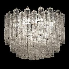 Large Tiered Chandelier Attributed to Venini Murano - 1409994