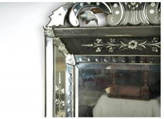 Large Venetian Etched Mirror Mid 20th Century - 2057320