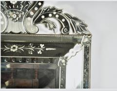 Large Venetian Etched Mirror Mid 20th Century - 2057321