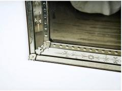 Large Venetian Etched Mirror Mid 20th Century - 2057322