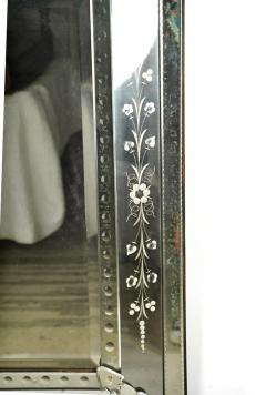 Large Venetian Etched Mirror Mid 20th Century - 2057324