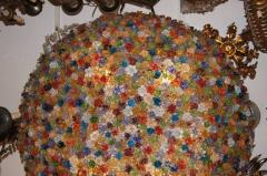 Large Venetian Flowers Glass Fixture - 657347