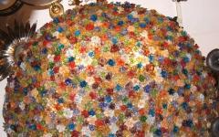 Large Venetian Flowers Glass Fixture - 657348