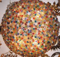 Large Venetian Flowers Glass Fixture - 657351