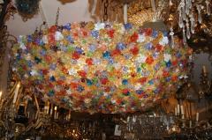 Large Venetian Flowers Glass Fixture - 657352