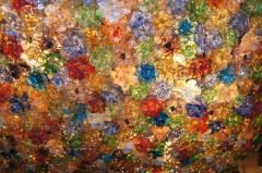 Large Venetian Flowers Glass Fixture - 657354