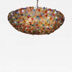 Large Venetian Flowers Glass Fixture - 657619