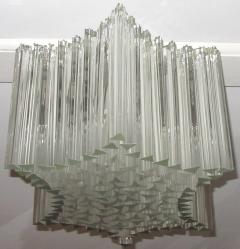Large Venini Triedri Glass Flush Mount Chandelier - 642972