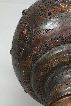 Large Vintage Moroccan Bronze Chandelier - 339030