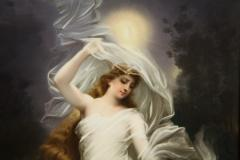 Large and Exceptional Berlin K P M Porcelain Plaque of Female Maiden Dietrich - 927377