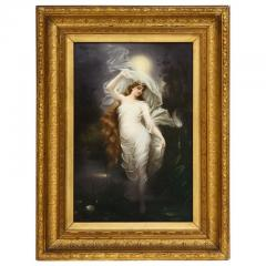 Large and Exceptional Berlin K P M Porcelain Plaque of Female Maiden Dietrich - 927379