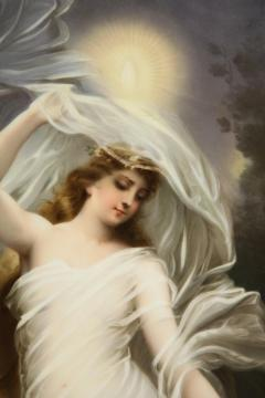 Large and Exceptional Berlin K P M Porcelain Plaque of Female Maiden Dietrich - 927381