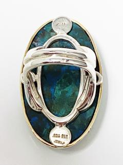 Large blue green Turquoise cabochon custom Ring - 2115179