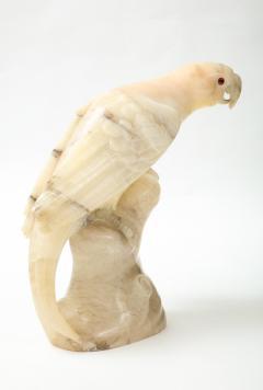 Large carved Alabaster Parrot  - 2112343