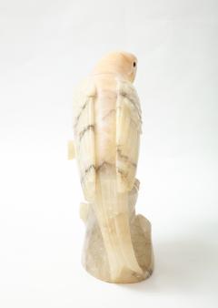 Large carved Alabaster Parrot  - 2112356