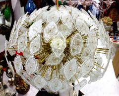 Large clouds chandelier Murano circa 1980 - 904355