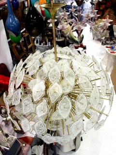 Large clouds chandelier Murano circa 1980 - 904356