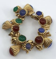 Large color stone bracelet - 1756822