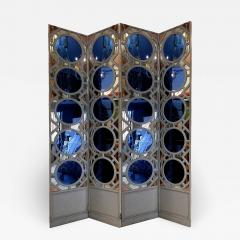 Large folding screen in lacquered wood and mirror France 1970 - 1018659
