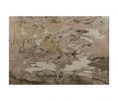 Large framed Japanese Embroidery Textile Panel Meiji Period - 1124810