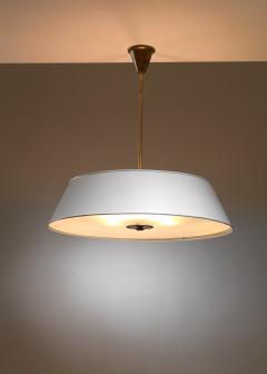 Large white brass and frosted glass pendant for Rettig Palace - 1450063