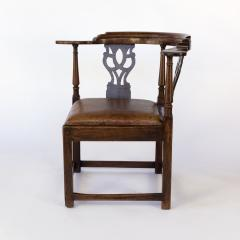 Larger Than Usual Chippendale Period Roundabout Corner Chair - 1363422