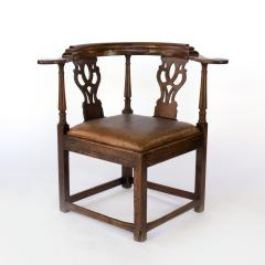 Larger Than Usual Chippendale Period Roundabout Corner Chair - 1363423