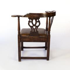 Larger Than Usual Chippendale Period Roundabout Corner Chair - 1363424