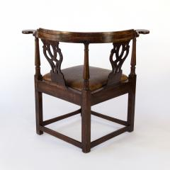 Larger Than Usual Chippendale Period Roundabout Corner Chair - 1363425