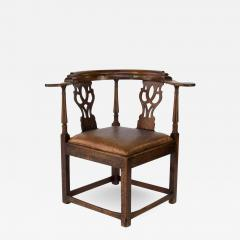 Larger Than Usual Chippendale Period Roundabout Corner Chair - 1363787