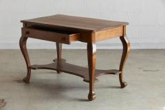 Larkin Co Solid Antique Oak Quartersawn Larkin Library Table With Drawer    299585